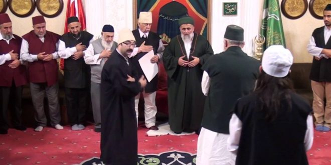 Fatih Nurullah Efendi Hazretlerinin, balıkesir halifesi Müfid Efendinin icazet merasimi